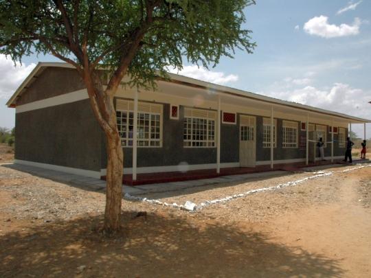 Neues Resource Centre in Katilu vor der Einweihung