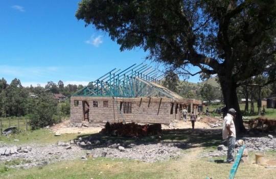 Rohbau der Grundschule in Kilgoris